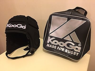 Kooga Rugby Large Boys Scrum Cap Head Protector With Zip-up Case