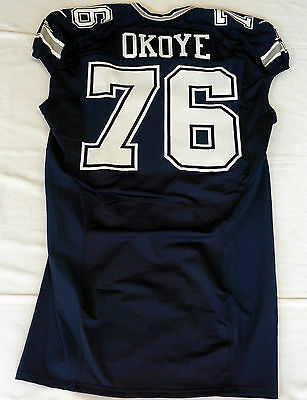 #76 Amobi Okoye Authentic Team Issued Nike Jersey of the Dallas Cowboys