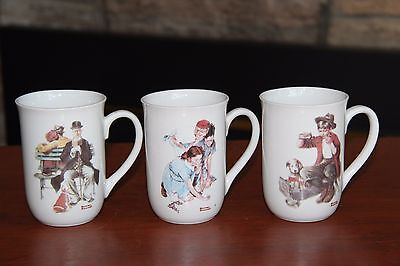 3 Vintage Norman Rockwell Coffee Cups, Norman Rockwell Museum, collectible