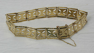 14KT Panel Bracelet 7 1/2 inches long1/2 inch wide...10.8 Grams