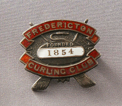 Frederickton Curling Club Founded 1854 Sterling Pin