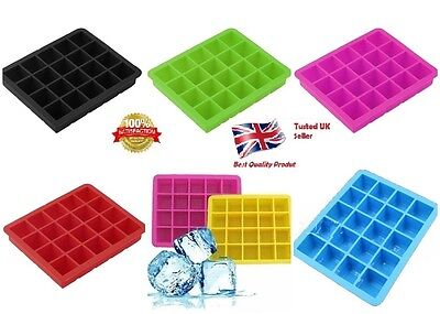 20-Cavity Large Cube Ice Pudding Jelly Maker Mold Mould Silicone Tray UK Seller