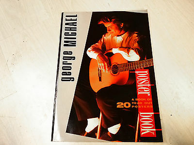 """George Michael - 50 Page Tear Out Poster Book - 30 X 42 Cm (12X16.8"""") - 1986 Org"""
