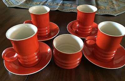 Carlton Ware England Retro Coffee Set Orange