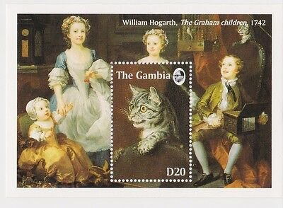 Gambia - Paintings of Cats, 1994 - Sc 1541 S/S MNH