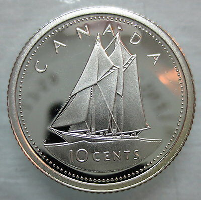 2002 Canada 10 Cents Proof Silver Dime Coin