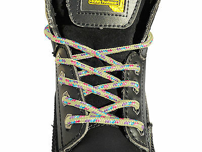 Unisex Boot Laces Shoelaces In 4 Lengths For Hiking Walking Safety Work Boots