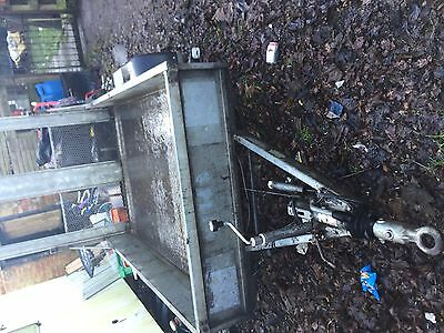 twin axle braked galvanised trailer with rear ramp plant tralier