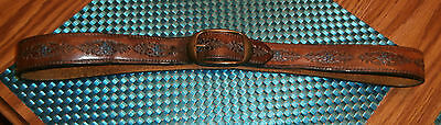Vintage Mens Brown Leather Belt  from the 70's