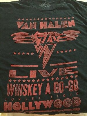 Van Halen T-Shirt Size XL Live At The Whiskey A Go-Go Sunset Strip Hollywood VH