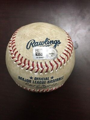 8/28/2016 Rays@Astros Corey Dickerson/Doug Fister Double Game Used Baseball