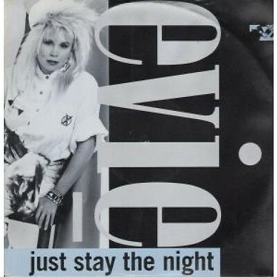 """EVIE Just Stay The Night 12"""" VINYL UK Blatant 1988 2 Track Long Version"""
