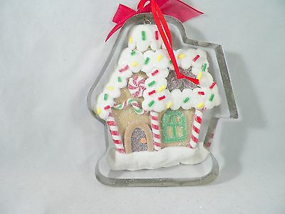 Gingerbread Cookie House in Cookie Cutter Christmas Tree Ornament new holiday