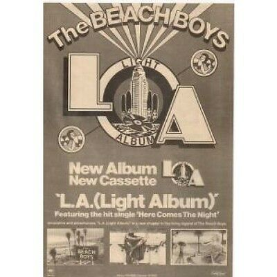 BEACH BOYS L.A.Light Album ADVERT UK Cbs 1979 Original Newspaper Advert