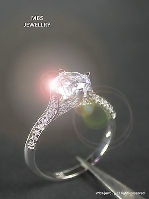 2.68Ct Solitaire Created Diamond Ring 18K White Gold GP Ring Vintage Design