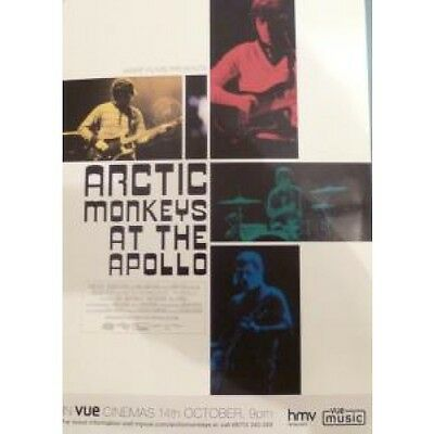 ARCTIC MONKEYS At The Apollo FLYER UK Warp Promo One Sided Flyer For Cinemas