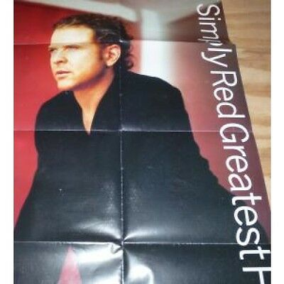 SIMPLY RED Greatest Hits POSTER UK East West 1996 Full Colour Folded Promo