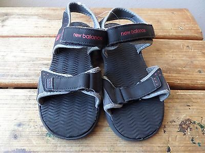New Balance KIDS Black Red Water Sport Strap Sandals Size 6