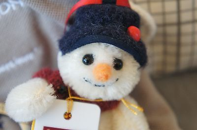 Charlie Bear Minimo Shake snowman - Cute! Mint condition with tags & keyring