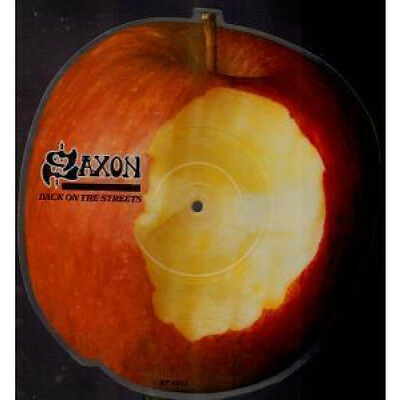 """SAXON Back On The Streets 7"""" VINYL UK Parlophone 1985 Limited Edition Apple"""