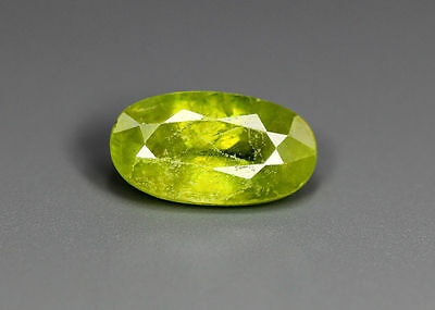 2.86 Cts_Simmering Ultra Nice Color Gemstone_100 % Natural Green Sphene
