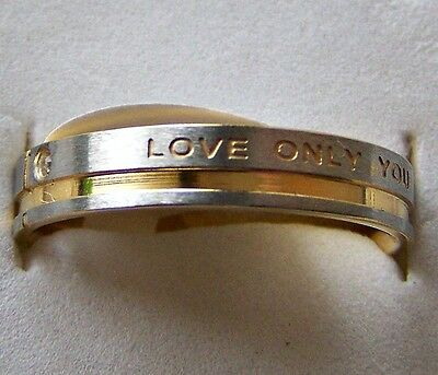 Love _ Only _ You   ~ S/steel  ~ Size:8  ~ Gold ~ Ring -- (Great_Christmas_Gift)