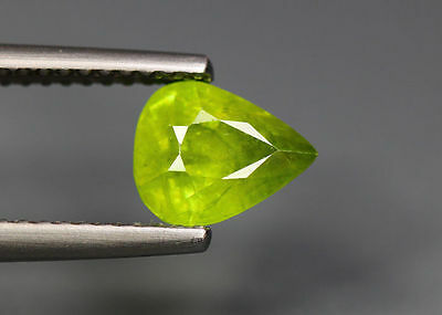 1.27 Cts_Simmering Ultra Nice Color Gemstone_100 % Natural Green Sphene