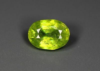 1.29 Cts_Simmering Ultra Nice Color Gemstone_100 % Natural Green Sphene