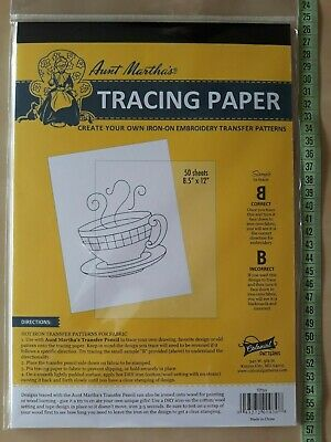 "Tracing Pad / Paper for Hot Iron Transfer - 50 sheets 8.5"" x 12"" - Aunt Martha's"