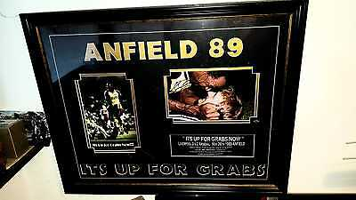 ARSENAL 1989 Anfield Framed Autograph signed photo football picture Micky Thomas