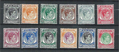 Singapore 1948 Selection to $2 (12) Mounted Mint SG1/14