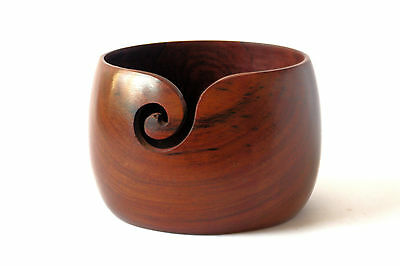"Wooden Yarn Bowl - 6"" x 4"""