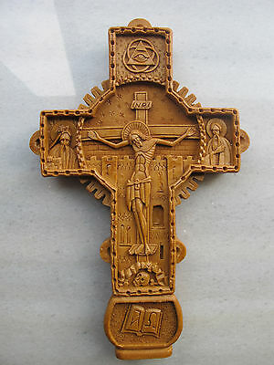 Orthodox Wax Cross Carved From Mount Athos Handmade Greek  Byzantine Style 232