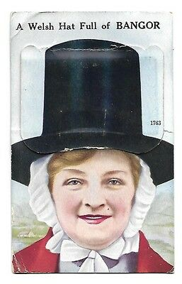 A Welsh Hat of Bangor Wales Pull-out  Postcard