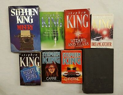 Stephen King 8 book bundle Carrie Christine misery 11.22.63 wizard and glass