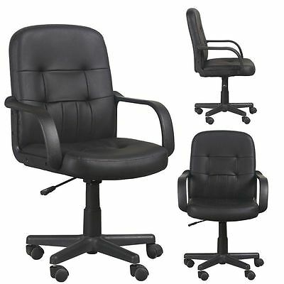NEW Swivel Executive Office Chair Luxury PU Leather High Back PC Computer Chair