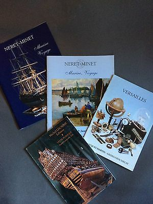 Lot 18 : 4 CAT. VENTES : MARINE VOYAGES, SCIENCES, MER, ANTIQUITES de MARINE