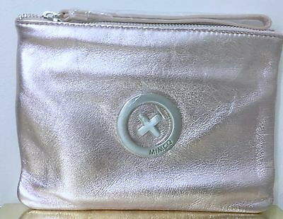 Mimco Medium Supernatural Pouch Clutch Wallet BNWT RRP $129 Rose Silver