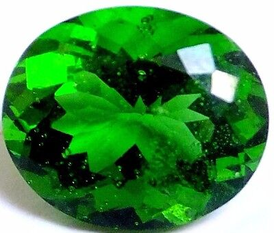 NATURAL AWESOME GREEN TEKTITE MOLDAVITE LOOSE GEMSTONE (13.4 x 11.4 mm) OVAL CUT