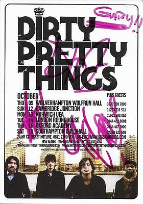 DIRTY PRETTY THINGS Handsigned Flyer