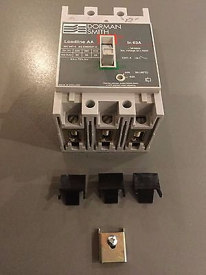 DORMAN-SMITH: MCCB: LOADLINE AA-63A with hold down bracket and fixing screw