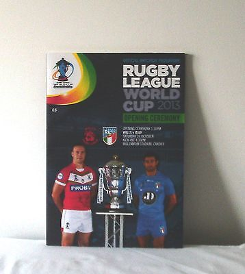 Australia v England  Wales v Italy 2013 Rugby League World Cup Programme