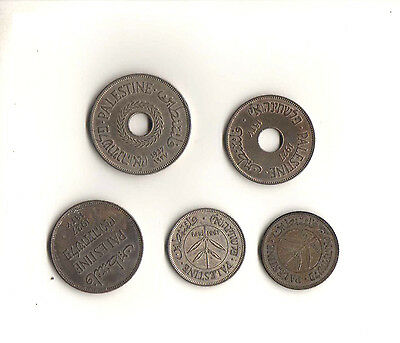 Palestine Lot Of 5 Coins 1927 - 1931