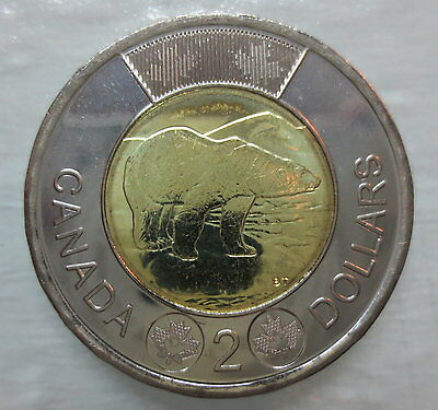 2013 Canada Toonie Brilliant Uncirculated Two Dollar Coin