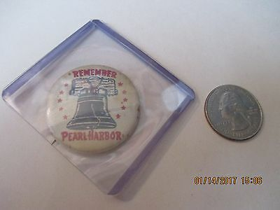 Original Wwii Homefront Remember Pearl Harbor Liberty Bell   Button