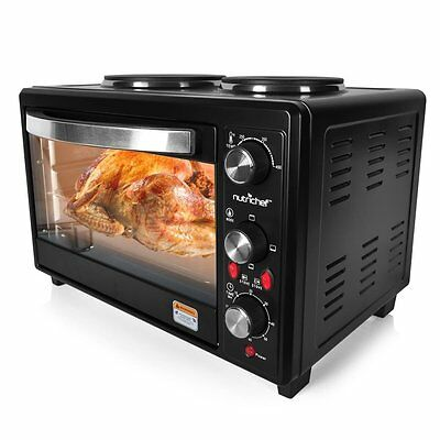 NutriChef Multi function Countertop Oven Rotisserie Cooker with Dual Electric