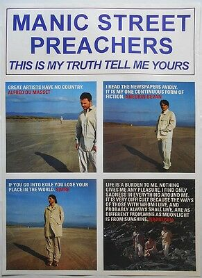 MANIC STREET PREACHERS This Is My Truth Rare Orig Vintage 1990's Colour POSTER