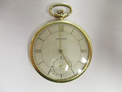 Movado 14K Solid Yellow Gold Pocket Watch