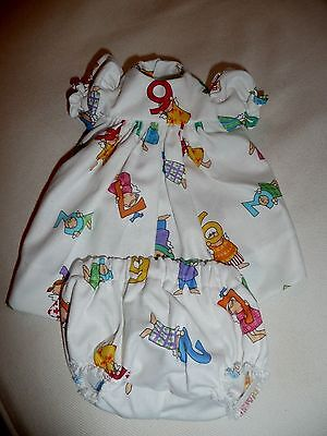 Sasha/ Toddler Or Baby Alphabet Dress & Panties By Diane's Delights