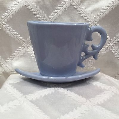 Vintage Collectible Pastel Blue Tea,coffee 1/2 Cup.wall Pocket,wall Planter